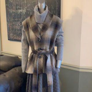 Pendleton Virgin & Lambswool Plaid Belted Vest